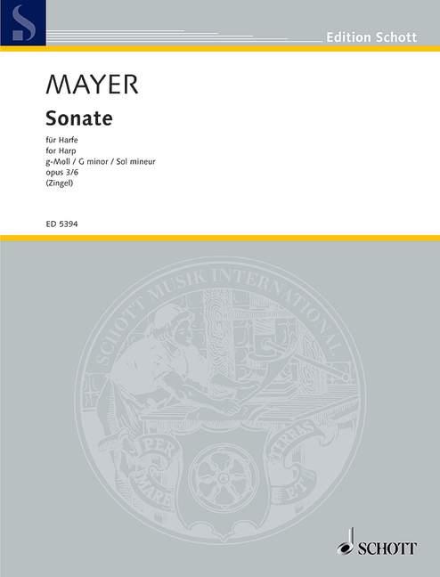 3//6 Mayer Sonata op Philipp Jacob harp 9790001060691